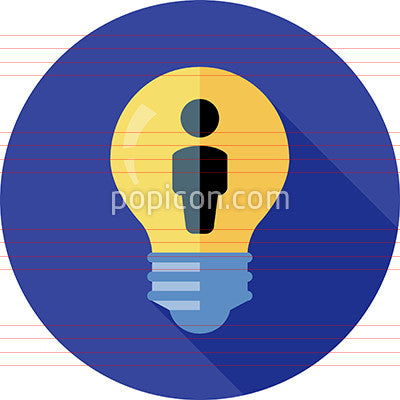 Inspiration Icon On Background - Flat Color Series