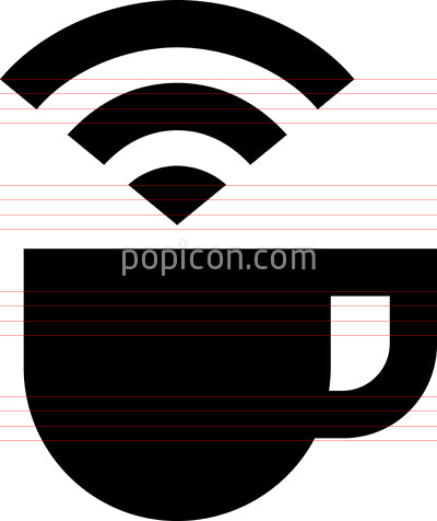 Internet Cafe WiFi Access Vector Icon