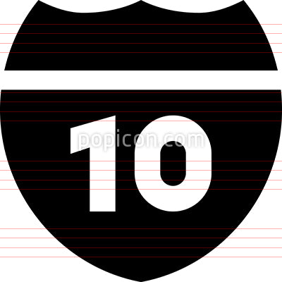 Interstate Route Marker Icon
