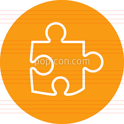 Jigsaw Puzzle Piece Outline Vector Icon