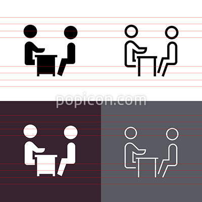 Job Interview Icon Set