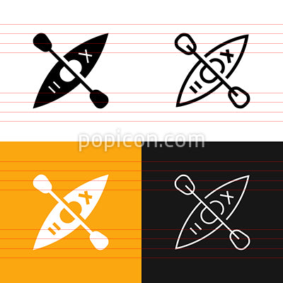 Kayak Icon Set