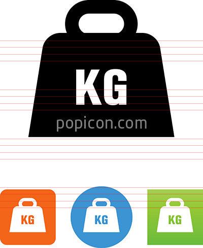 Kilogram Weight Icon