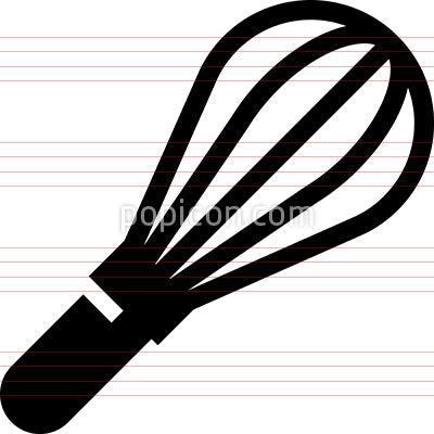 Kitchen Whisk Vector Icon