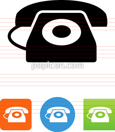 Landline Phone With Dial Icon