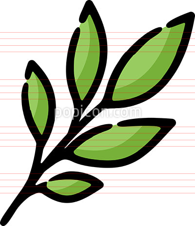Leaves Herbs Spice Hand Drawn Icon