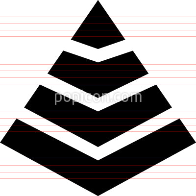 Level Pyramid Structure Icon
