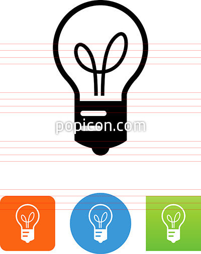 Light Bulb With Filament Icon