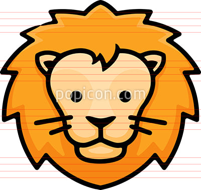 Lion Head Hand Drawn Icon