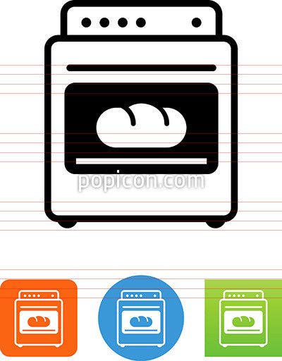 Loaf Of Bread In An Oven Icon