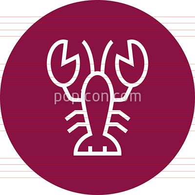 Lobster Shellfish Seafood Outline Icon