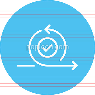 Looping Circular Arrow Outline Icon