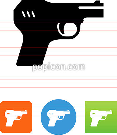 Luger Style Hand Gun Icon