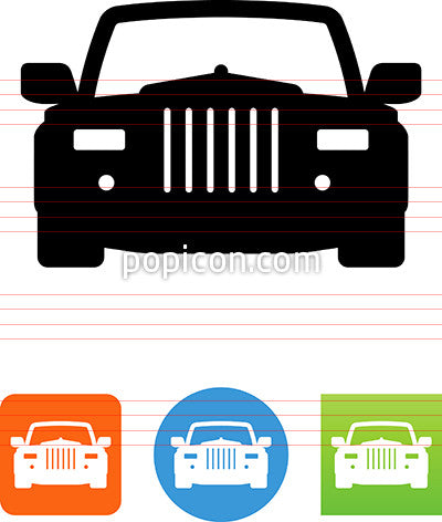 Luxury Car Front View Icon Popicon