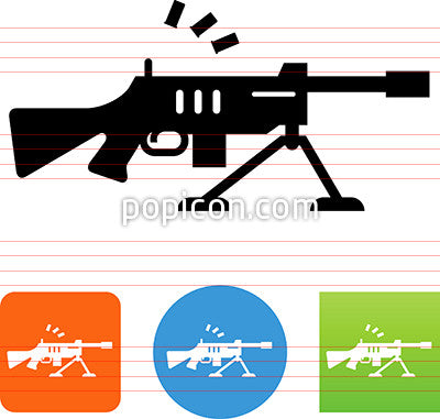 Machine Gun On Tripod Icon