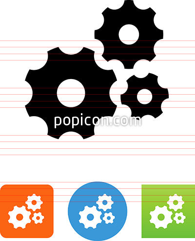 Machinery Gears Icon