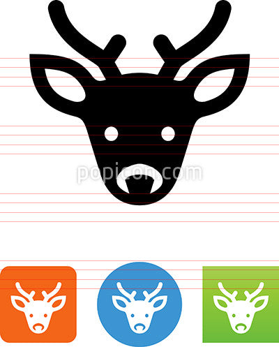 Male Deer Head With Antlers Icon