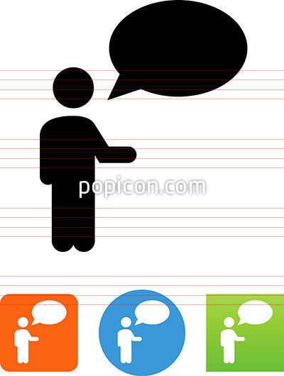 Man Talking Icon