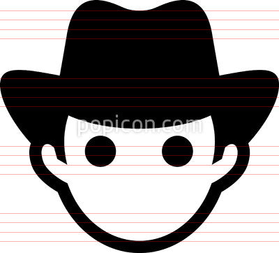 Man Wearing Hat Icon