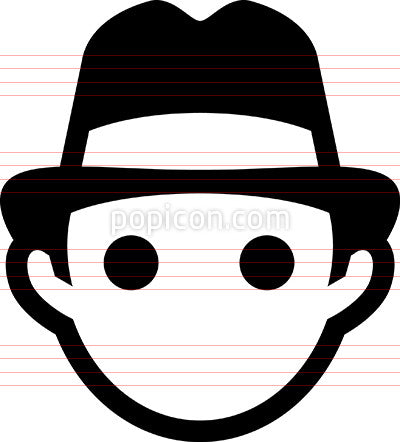 Man Wearing Panama Hat Icon