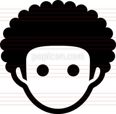 Man With Afro Haircut Icon