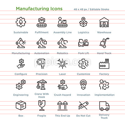 Manufacturing Icons - Outline