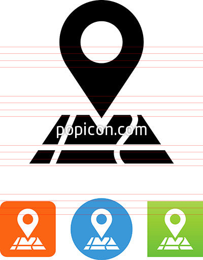 Map With Pin Icon