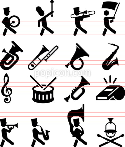Marching Band Icons