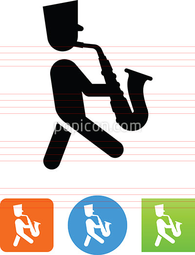 Marching Saxophone Player Icon