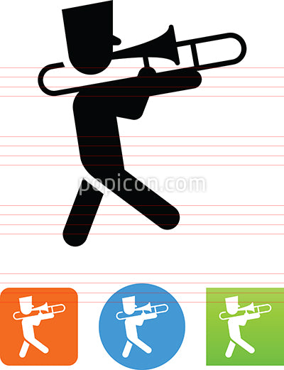 Marching Trombone Player Icon