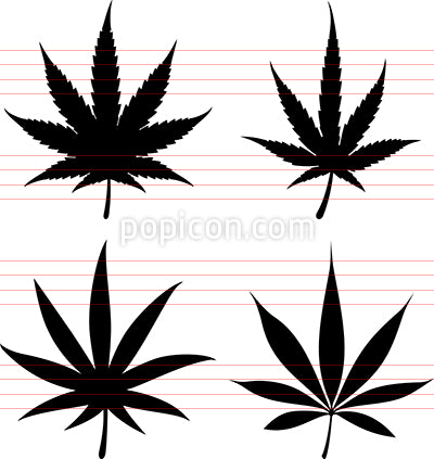 Marijuana Leaf Icons