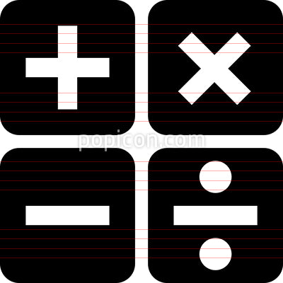 Math Symbols Vector Icon