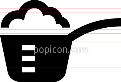 Measuring Spoon With Ingredients Vector Icon