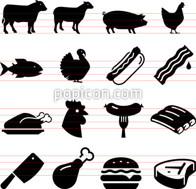 Meats Icons