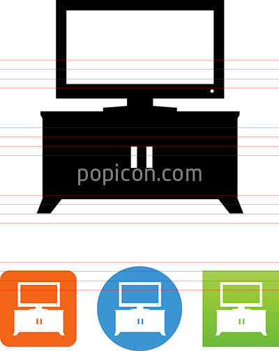 Media Center With TV Icon