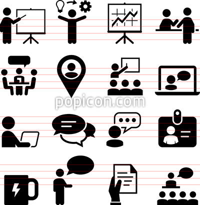 Meeting And Seminar Icons