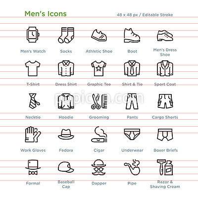 Mens Icons - Outline