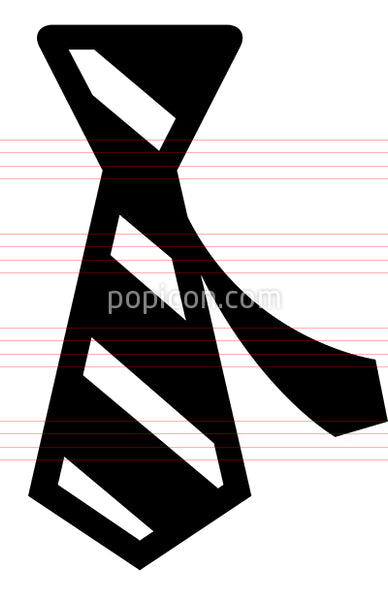Mens Necktie Vector Icon