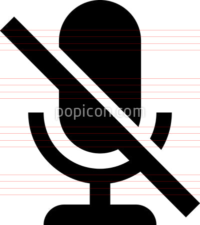 Microphone Off Mute Vector Icon