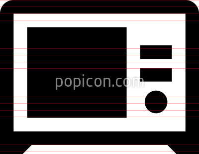Microwave Vector Icon
