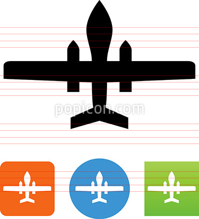 Military Drone Icon
