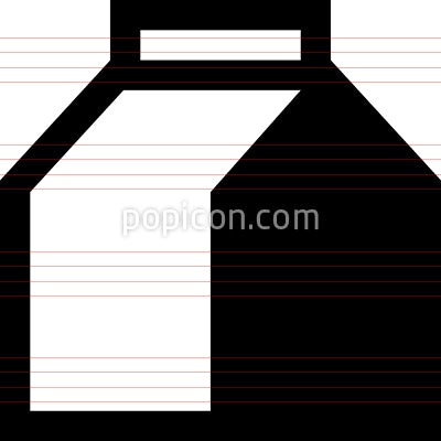 Milk Carton Dairy Vector Icon
