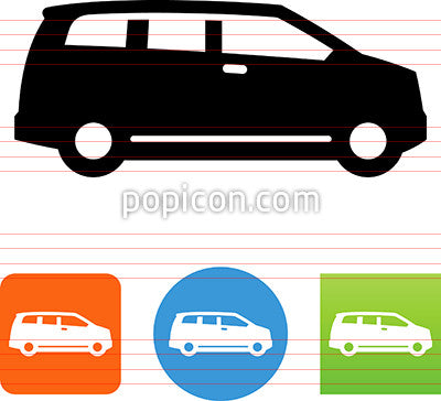 Minivan Side View Icon