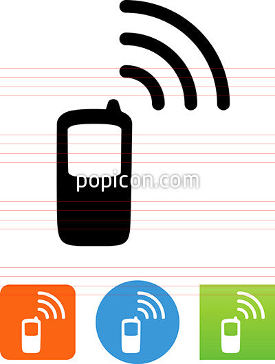Mobile Phone With Wireless Signal Icon