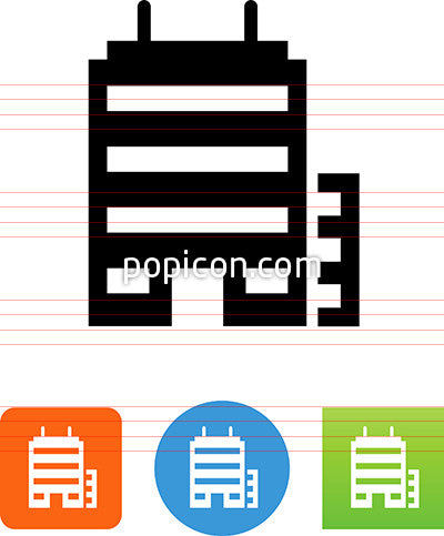 Modern Office Buildings Icon