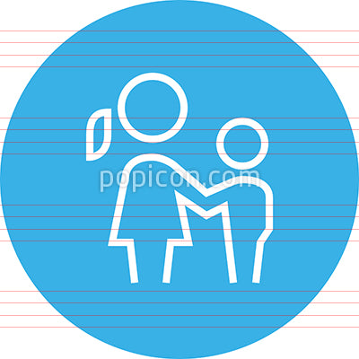 Mom And Son Outline Icon