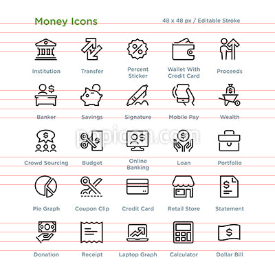 Money Icons - Outline