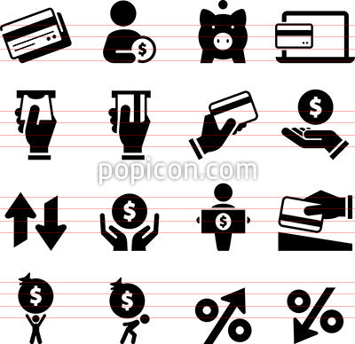 Money and Credit Icons