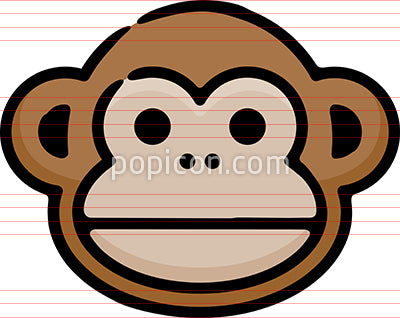 Monkey Chimp Hand Drawn Icon