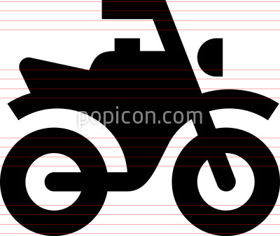 Motorcycle Dirt Bike Vector Icon